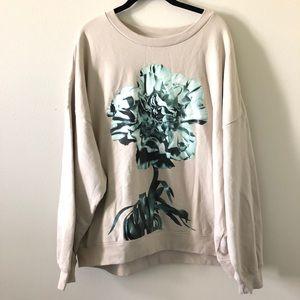 Graphic sweater | 💯% cotton | Chrysanthemum print